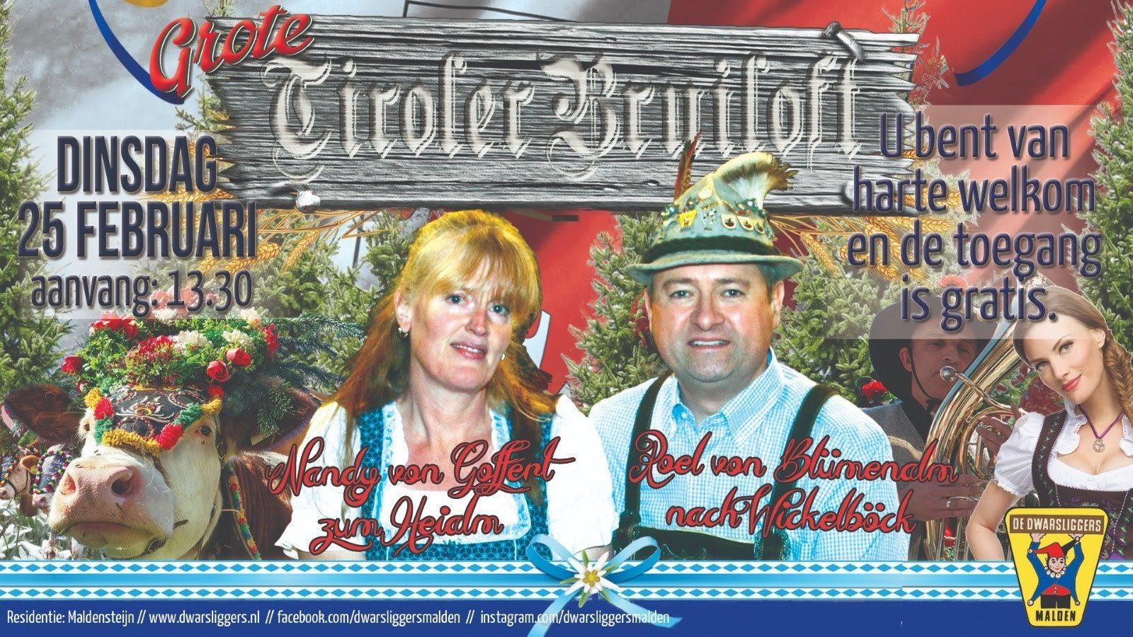 Ook dit jaar is er weer een Tiroler Bruiloft!